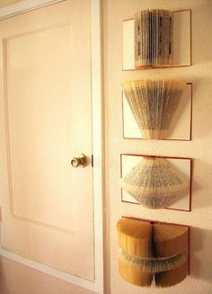 How creative! Book wall decorations
