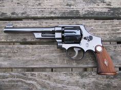 Nice! 1932 Smith & Wesson 38-44 Outdoorsman Smith And Wesson Revolvers, Smith N Wesson, Custom Revolver, Get Shot, Guns And Ammo, Will Smith, Firearms, Hand Guns, Weapons