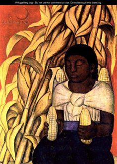 Mujer del Maiz - Diego Rivera
