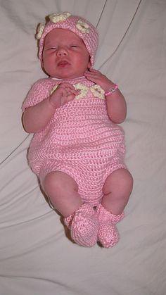*Free Crochet Pattern:  Newborn Romper by Joanne Holt