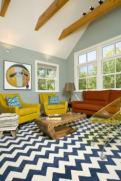 Living Room Decorating With Orange And Blue Design, Pictures, Remodel, Decor and Ideas - page 8