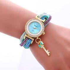 Colorful Crystal Twist Strap Key Wa..