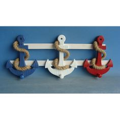 Judith Edwards 3617 Red White and Blue Anchor Wall Pegs - Home Furniture Showroom Furniture Projects, Kids Furniture, Furniture Makeover, Wood Projects, Painted Furniture, Furniture Showroom, Modular Furniture, Furniture Logo, Furniture Vintage