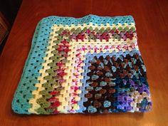 Vintage Handmade Crocheted Afghan Throw Bed by SpaceModyssey