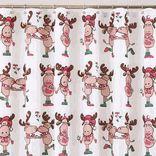 Christmas Shower Curtains - Christmas Bathroom Accessories #Christmas #holidayhomedecor