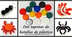 Más de 15 manualidades para niños con tapones de botellas de plástico