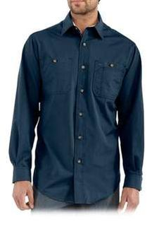 Carhartt S207 Long Sleeve Canvas Tradesmen Shirt - Navy   Buy Now at camouflage.ca