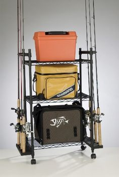 Organized Fishing Tackle Trolley Rolling Wire Rack at http://suliaszone.com/organized-fishing-tackle-trolley-rolling-wire-rack-2/