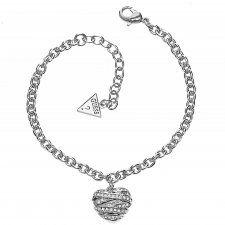 Guess Silver Wrapped With Love Bracelet UBB21596-L Love Bracelets, Bangle Bracelets, Bangles, Fiorelli, Jewels, Diamond, Silver, Bracelets, Bracelets
