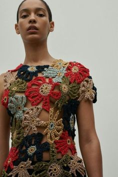 Knitwear Fashion, Knit Fashion, Fashion Outfits, Crochet Jumper, Crochet Top, Crochet Designs, Knitting Designs, Freeform Crochet, Beautiful Crochet