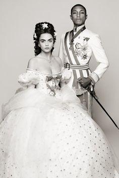 Karl Lagerfeld Unveils Latest Chanel Film  Karl Lagerfeld Chanel Cara Delevingne Pharrell Williams