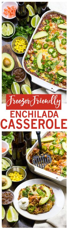 Freezer-Friendly Enchilada Stack Casserole | Healthy Mexican-inspired meal prep!