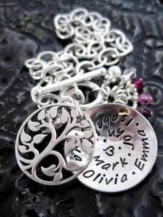 Sterling silver hand-stamped jewellery