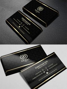 Gold and Black business card #40 662190                                                                                                                                                     More
