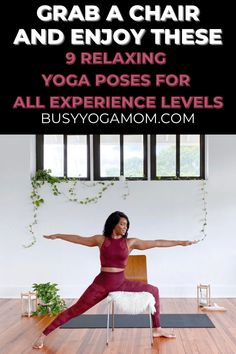 These 9 accessible chair assisted yoga poses are an amazing way to treat your body to a gentle, relaxing stretch. #yoga #yogaposes #yogaforbeginners #yogateacher #yogainspiration All Yoga Poses, Basic Yoga Poses, Yoga Poses For Beginners, Yoga Tips, Mindful Yoga, Yoga For Back Pain, Yoga Mom, Relaxing Yoga, Beginner Yoga