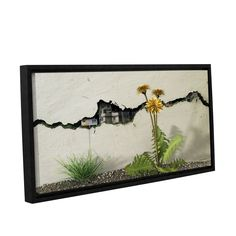 Between The Cracks by Cynthia Decker Gallery-Wrapped Floater-Framed Canvas