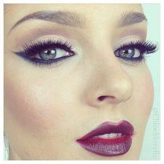 cat eyes, makeup, dark lips, lipstick lust