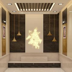 Temple is not just a place to worship but also a place to be at peace. Living Room Partition Design, Room Partition Designs, Ceiling Design Living Room, Bedroom False Ceiling Design, Bedroom Closet Design, Kitchen Room Design, Bedroom Furniture Design, Home Room Design, Modern Bedroom Design