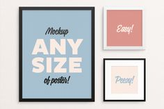 Poster Frame Mockup – fits ALL sizes by tyunderscore on @creativemarket