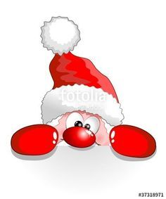 Image result for cartoon santa face peeking in window