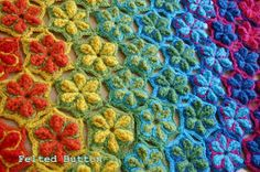 Felted Button - Colorful Crochet Patterns: ::Star Fruit Rug & Blanket Crochet Pattern::