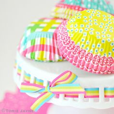 Pretty bright cupcake cases by toriejayne, via Flickr
