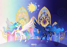 Princess celestia and Princess luna by CaTs-EyE-ArT.deviantart.com on @DeviantArt