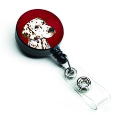 Dalmatian Retractable Badge Reel or ID Holder with Clip