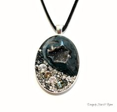 """Our NEW """"Smoky"""" #Druzy #Necklace just listed on #Etsy."""