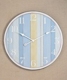 Another great find on #zulily! Nautical Stripe Wall Clock by Young's #zulilyfinds