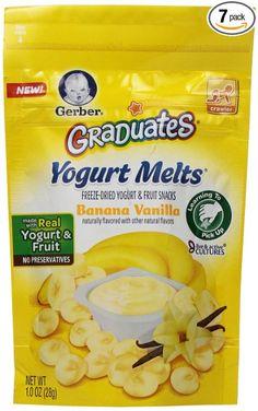 Gerber Выпускники Йогурт растает, Банан Ваниль, 1 унция (Pack из 7)