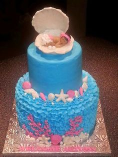 Under the Sea themed - Baby Shower Cake