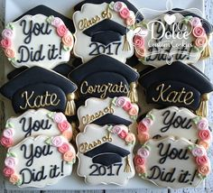 graduation parties ***Please contact me prior to placing your order to be sure that I have availability for your date.*** **The price posted on this listing is for one dozen be Graduation Party Desserts, Graduation Party Planning, College Graduation Parties, Graduation Cupcakes, Nursing Graduation, Graduation Celebration, Graduation Decorations, Grad Parties, Graduation Ideas
