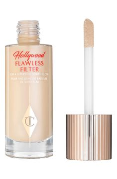 Charlotte Tilbury Hollywood Flawless Filter for a Superstar Youth Glow.longest name in makeup history, but such a beautiful product. Hollywood, Superstar, Teacher Diva, Perfume, Beauty Secrets, Beauty Products, Makeup Products, Beauty Tips, Foundation
