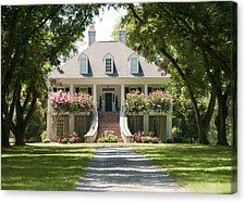 Old Southern Home Canvas Print by Danny Jones