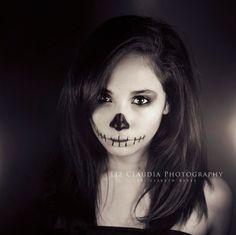 Skull Girl by LizClaudia.deviantart.com on @DeviantArt
