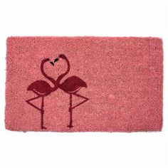 Entryways Flamingos Door Mat