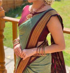 Cotton Saree Blouse Designs, Half Saree Designs, Fancy Blouse Designs, Latest Saree Blouse Designs, Indian Blouse Designs, Latest Silk Sarees, Soft Silk Sarees, Indian Fashion Dresses, Indian Outfits
