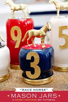 Kentucky Derby Party DIY: Race Horse Mason Jars