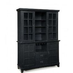 Home Styles Arts and Crafts Dining Buffet with Hutch in Ebony $713.18