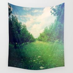 Apple Orchard in Spring Wall Tapestry