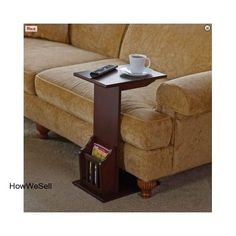 New Couch Accessory Accent Furniture End Side Reading Coffee Sofa Table Stand #Mission