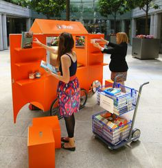 The Terrier and Lobster: The Penguin Books Pop-Up Shop. great bike trailer idea