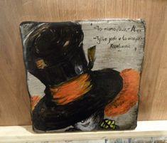 KAFEL OZDOBNY - KAPELUSZNIK Painting, Art, Art Background, Painting Art, Kunst, Paintings, Performing Arts, Painted Canvas, Drawings