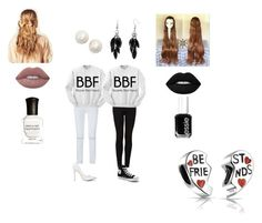 """""""BFF Series Part 1"""" by maddies-fashions ❤ liked on Polyvore featuring Rebecca Minkoff, Topshop, Hershesons, Alexa Starr, Deborah Lippmann, Lime Crime, Essie, Converse, Kate Spade and Bling Jewelry"""