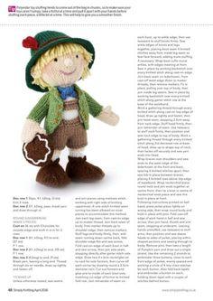 HANSEL & GRETEL/ALAN DART : 네이버 블로그 Knitted Doll Patterns, Crochet Teddy Bear Pattern, Christmas Knitting Patterns, Crochet Animal Patterns, Knitted Dolls, Stuffed Animal Patterns, Crochet Patterns Amigurumi, Crochet Dolls, Bear Patterns