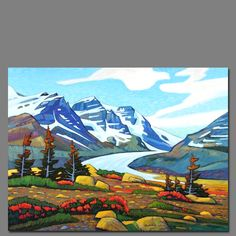 Bott Oil Painting Pictures, Paintings I Love, Pictures To Paint, Abstract Landscape, Landscape Paintings, Abstract Art, Canadian Painters, Canadian Artists, Outdoor Wall Art
