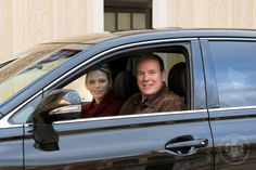 Monaco Royals return to palace after twins birth. Prince Albert's net worth is in the BILLIONS, yet he insists on driving his wife and newborn twins home from the hospital himself, no driver here! Love them!