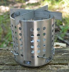 Homemade stove made from an Ikea silverware cannister