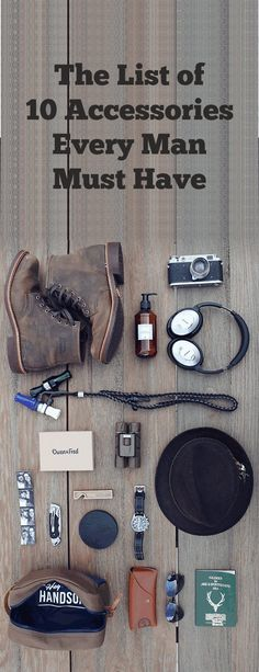 10 essential accessories that any style-conscious man MUST have in his collection, from the versatile sunglasses and bag to classic wallet and Cap. Mens Fashion Blog, Fashion Mode, Boy Fashion, Mens Essentials, Every Man, Men's Wardrobe, Men Style Tips, Gentleman Style, Modern Man